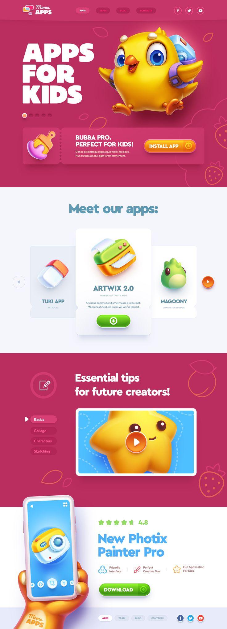 Apps for kids web site design