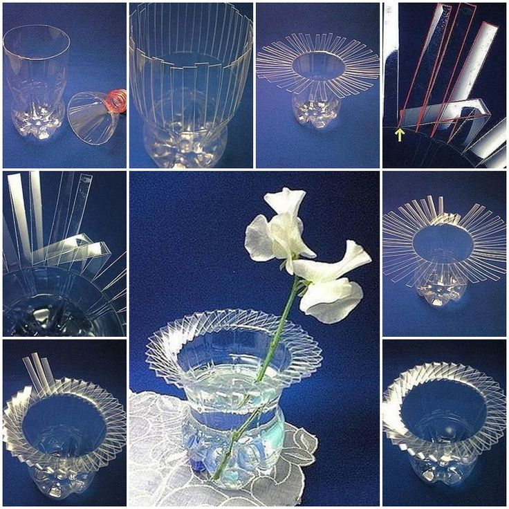 1000 images about plastic bottles on pinterest plastic for Plastic bottle vase craft