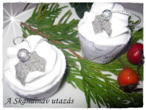 2 db os cupcake szett - Skandináv utazás, Otthon, lakberendezés, Dekoráció, Karácsonyi, adventi apróságok, Karácsonyfadísz, Meska