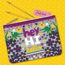 Hey Hi Hello Alligators zipper pouch
