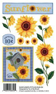 Sunflowers Rub On Transfers Painted Furniture Pinterest