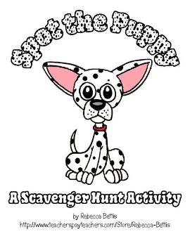 This school location scavenger hunt activity is designed to help young students become acquainted with the school environment. $3