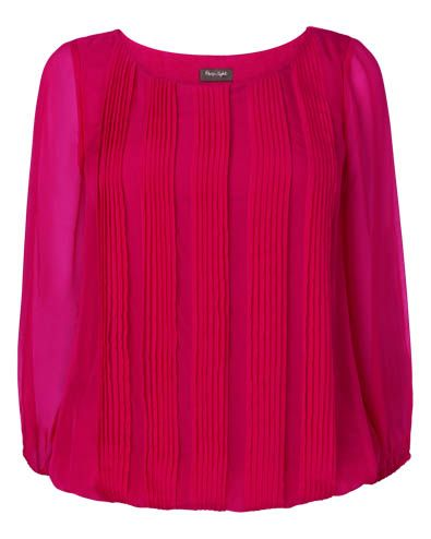 Phase Eight | Women's Tops | Eliza Pleated Silk Blouse