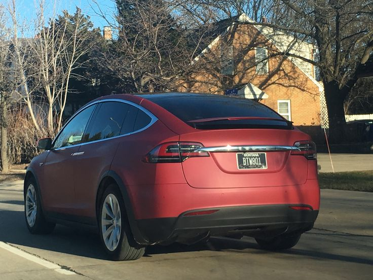 Spotted: Matte red Model X in Madison WI. #Tesla #Models #car #Automotive #cars #Autos