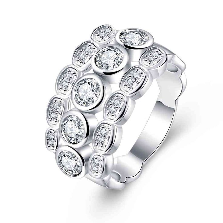 Free Shipping aliexpress silver rings Monochrome insets prices in euros wedding decoration SMTR723 #Affiliate