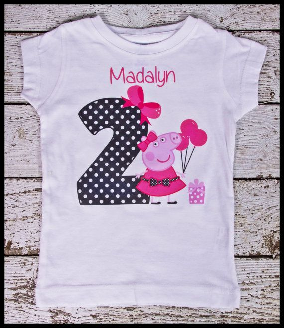 This listing is for the super cute Peppa personalized tee shirt. Perfect for your little Peepa pig fan.  Please leave the following