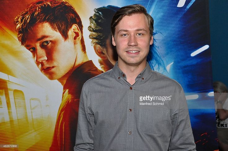 David Kross poses during the premiere for the film 'Boy 7' at UCI Millennium on August 11, 2015 in Vienna, Austria.
