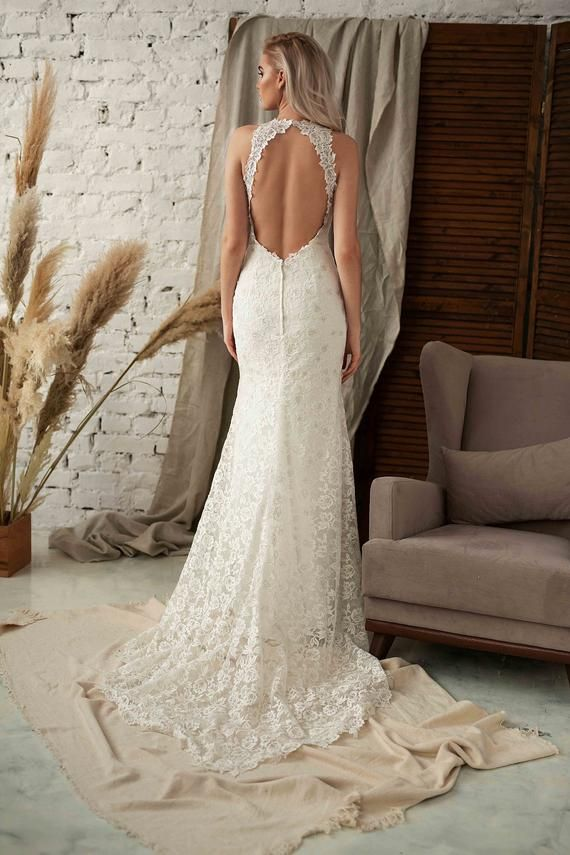 High Neck Lace Dress White Wedding Dress Lace Beach Bridal Dress Halter Wedding Dress White Lace Dress Women Bohemian Lace Wedding Dress With Images Halter Wedding Dress Lace Halter Wedding Dress Bohemian,Traditional Indian Wedding Dresses For Men