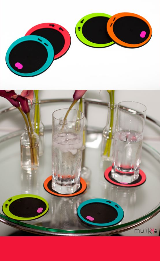 Portavasos caras LIMI  Faces glass coasters MULIKKA