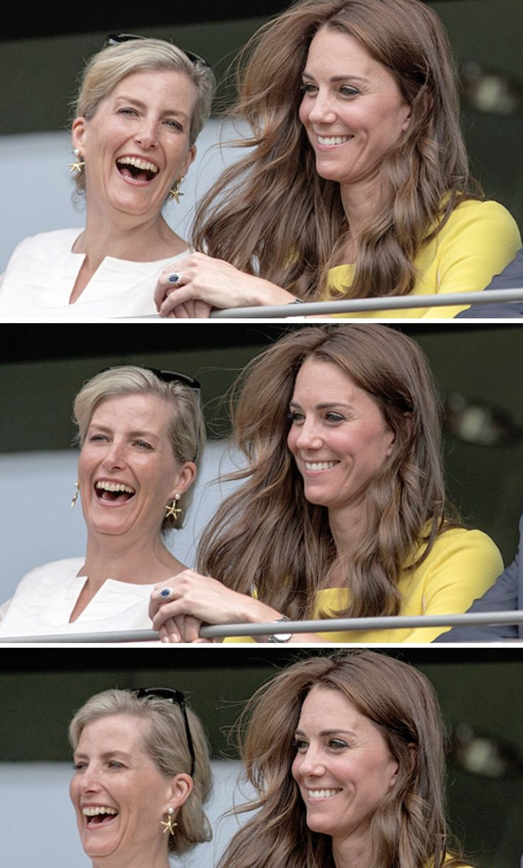 Sophie Wessex and Catherine, Duchess of Cambridge at Wimbledon
