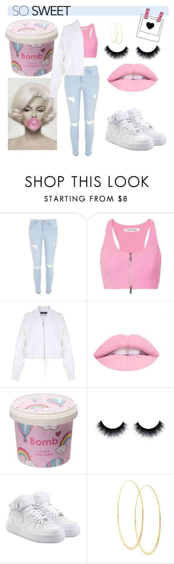 """""""SO sweet"""" by eviejessup on Polyvore featuring River Island, Elizabeth and James, TIBI, Cloud 9, NIKE and Lana"""