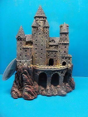 penn plax rrw8 large wizards castle aquarium decoration fish tank nib