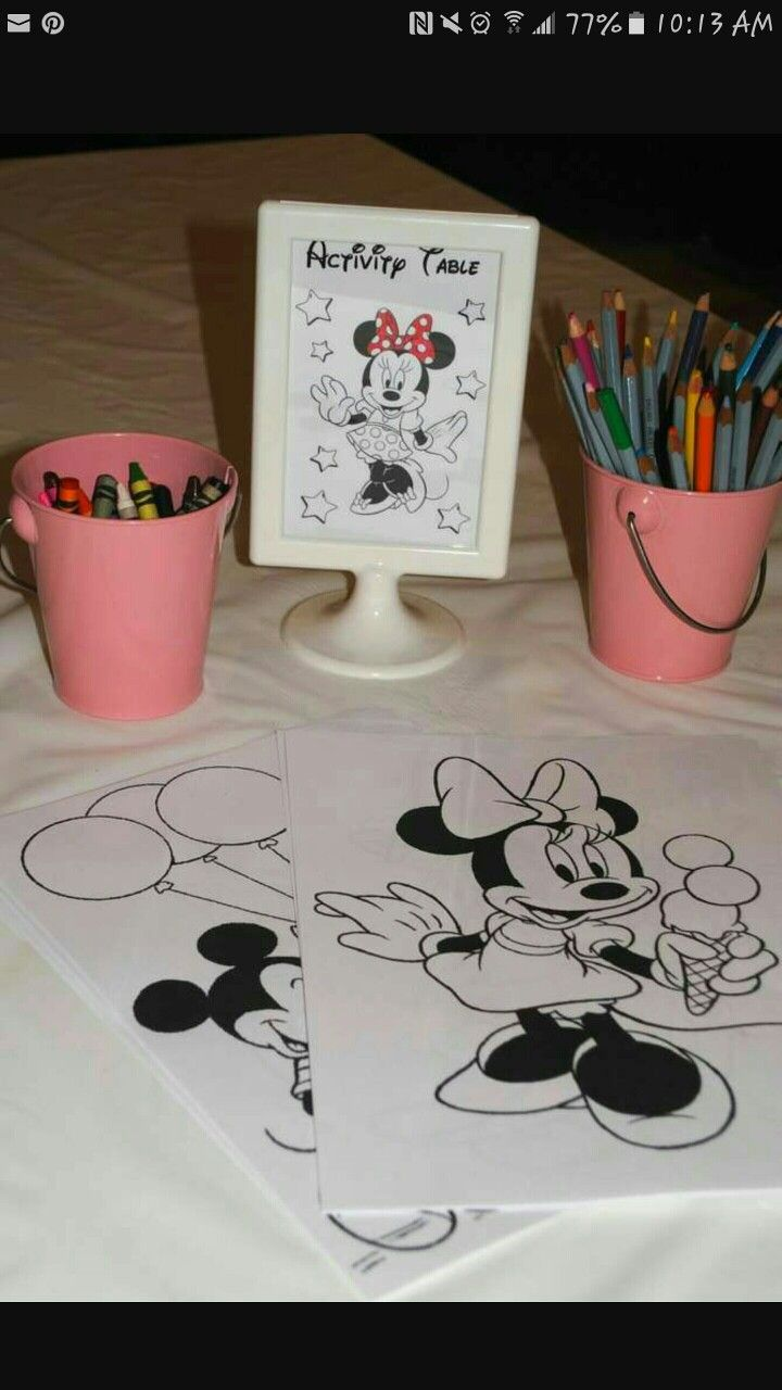Could do this with Mickey pics or the whole gang Minnie Mouse Birthday Party Ideas