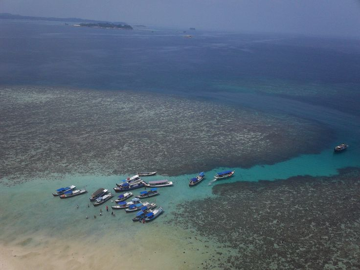 view from Tower in Lengkuas Island - Belitong, Indonesia