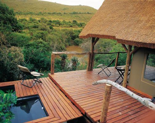 Bayethe Lodge at Shamwari Game Reserve. Luxury tented accommodation.