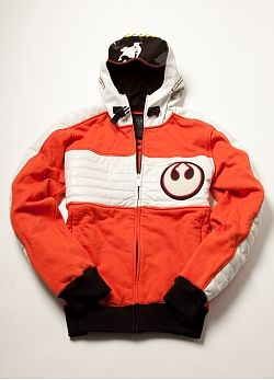 Ready for winter? If you're a Star Wars fan, you way want to add Marc Ecko's X Wing Pilot Hoodie to your Christmas list. $100 #offbeatgifts