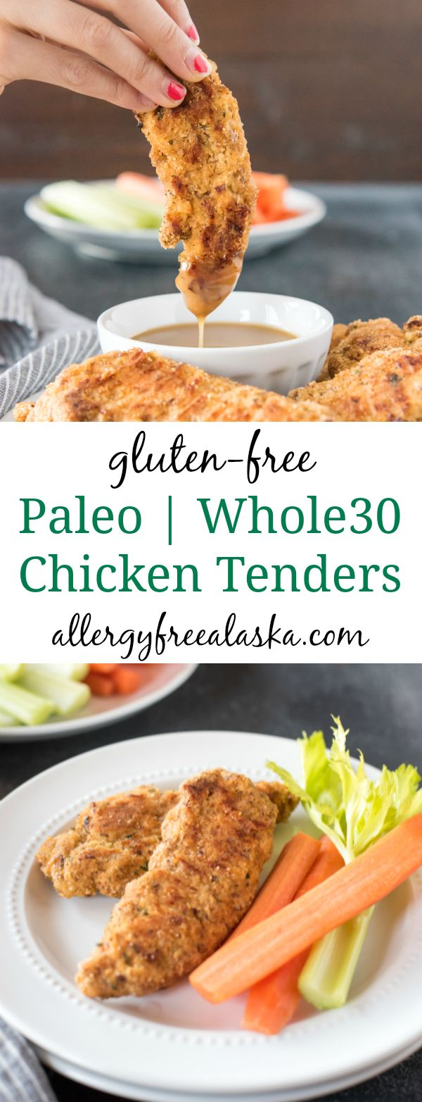 These Easy Baked Paleo Chicken Tenders with Honey Mustard Dipping Sauce are one of our favorite low-carb meals. They are quick and easy, and much healthier than the fried variation!