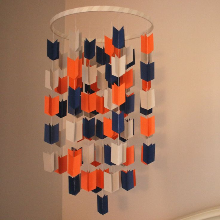 Aztec Arrow Crib Mobile: Arrow mobile, Navy Blue, Orange and Grey. Photo prop, Baby shower, Baby nursery, Birthday, Decor by Monkeynutdesign on Etsy https://www.etsy.com/listing/386522098/aztec-arrow-crib-mobile-arrow-mobile