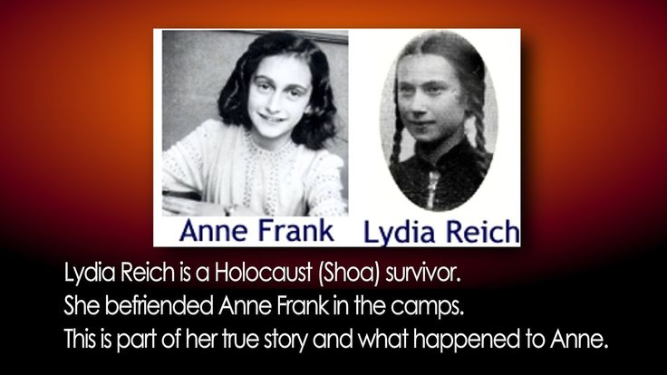 Anne Frank video Holocaust Auschwitz Lydia Reich true story Concentratio...