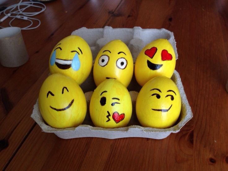 My handmade #easter #eggs are just #emoticons this year!                    Painted with my niece, they have become a family tradition.