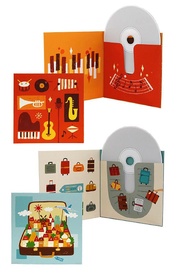 CD covers template: You can download the music theme or the travel theme. www.ohcrafts.net