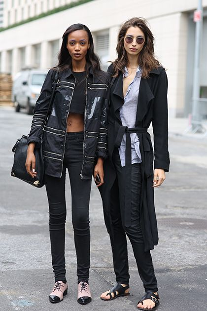 Black skinnies are the perfect foundation to any outfit.