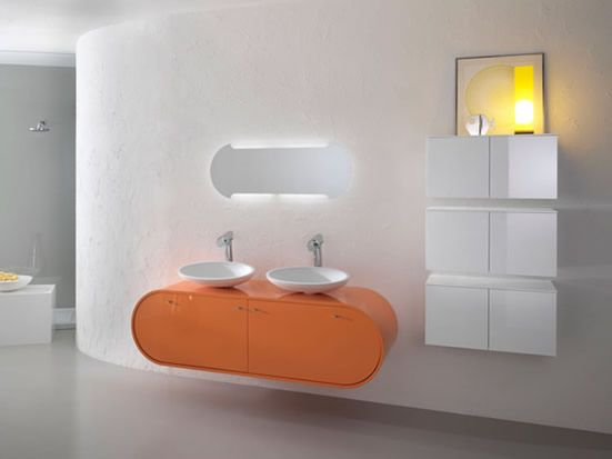 wonderful 17 modern bathroom furniture sets u2013 piaf by foster 17 modern bathroom furniture sets u2013 piaf by foster with white orange bathroom wall wash basin - Modern Bathroom Lighting