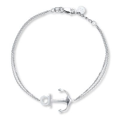 This petite anchor bracelet is the epitome of chic summer style.