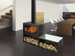 INSPIRATION DECO SALON: feu ouvert bi face de style industriel.