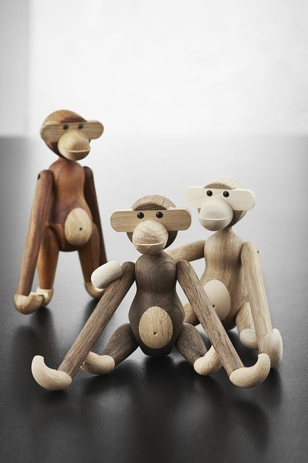 Danish designer Kaj Bojesen has made his iconic monkey in two new colours - perfect for a home with a scandinavian look.