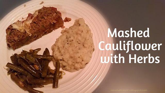 Mashed Cauliflower with Herbs