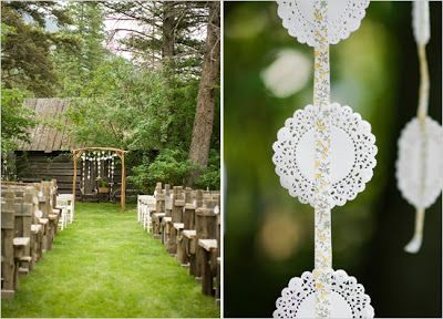 Hanging Doilies And Pomander Balls For Ceremony