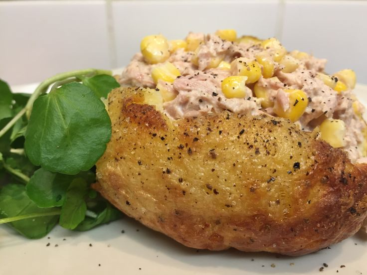Jacket potato- tuna and sweetcorn