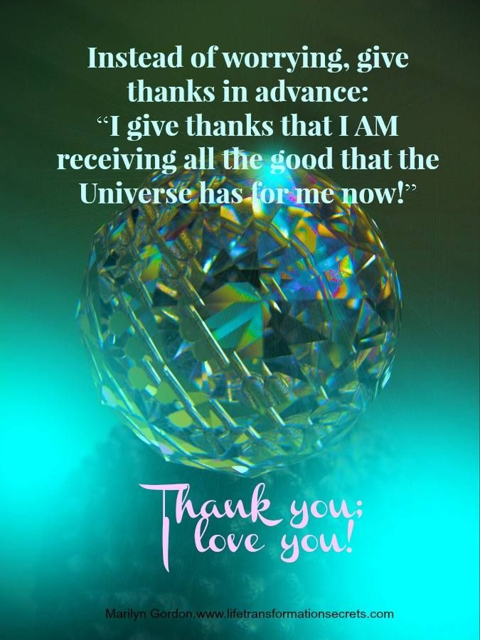 I give thanks that I AM receiving all the good that the Universe has for me now! Thank You: I love you!