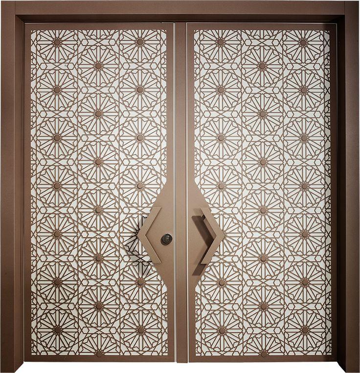 דלת חוץ סהרה דו כנפית, דלתות כניסה מעוצבות בנגיעה אומנותית ליין - ART- רשפים