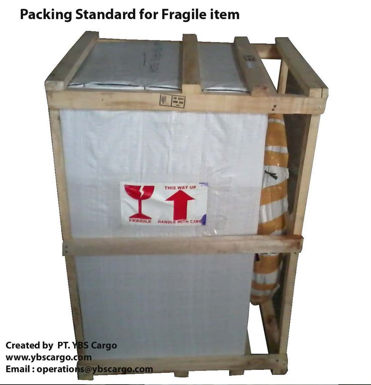 Fragile item in packaging