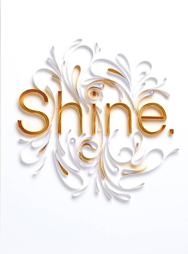 Paper art by Yulia Brodskaya: Shine