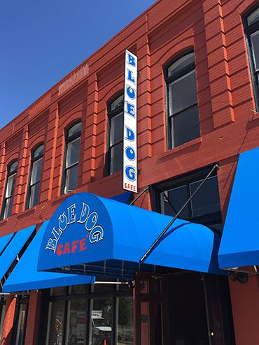 The Blue Dog Cafe in Lake Charles, Louisiana