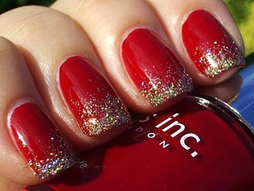 Red with Gold