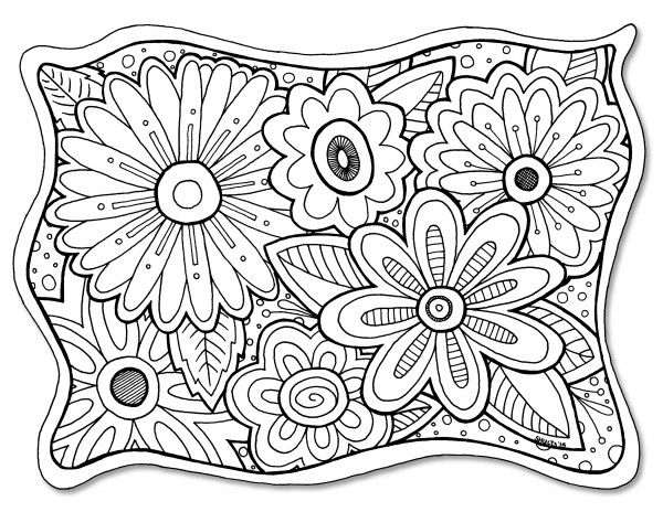 flower coloring page freebie