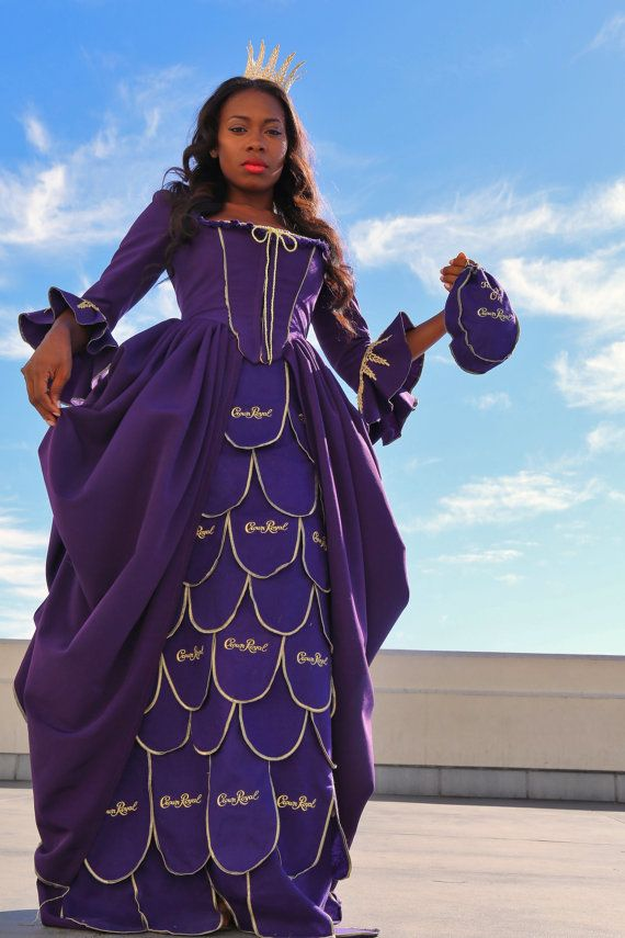 Crown Royal Bag Queen Costume Dress for Halloween by Olipra