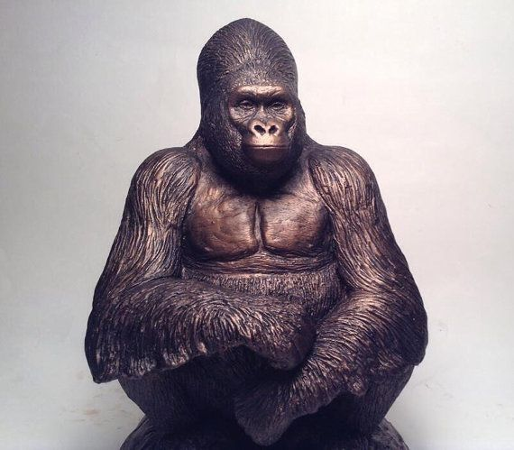 11 best images about jason shanaman chimpanzee and gorilla sculptures on pinterest trees - Gorilla figurines ...