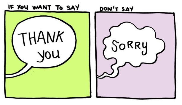 Cartoons Show How 'Thank You' Can Be an Empowering Substitute for 'Sorry'