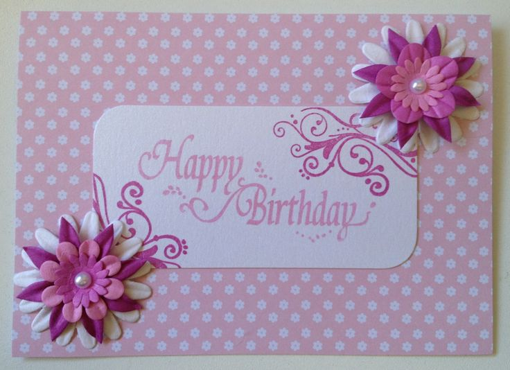 Pretty in pink birthday wishes card