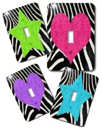zebra Light Switch Covers variety zebra bedroom decorations
