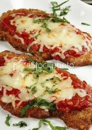 Veal parmesan... Conner's request for the night before his test of course