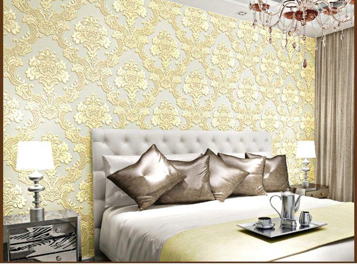 Aliexpress.com: Compre Europeu 3 d não tecido wallpaper real papel de parede em relevo quatro cores cenário sala de TV 3d papel de parede impresso de confiança papéis de parede para a decoração da parede fornecedores em Modern Wallpaper Roll