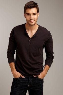 Damon's long sleeved Henley shirt.