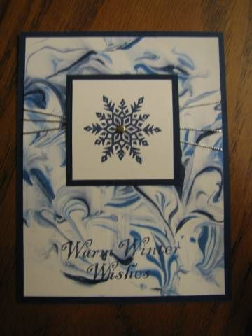 Snowflakes shaving cream card by reccabecca - Cards and Paper Crafts at Splitcoaststampers