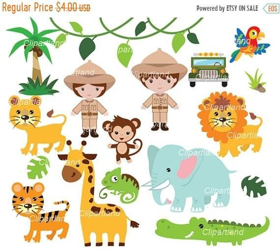 Set With Individual Separate Transparent Png Files Png Format Meaning Transparent Background In Zip Archive Each Safari Animals Clip Art Animal Valentine
